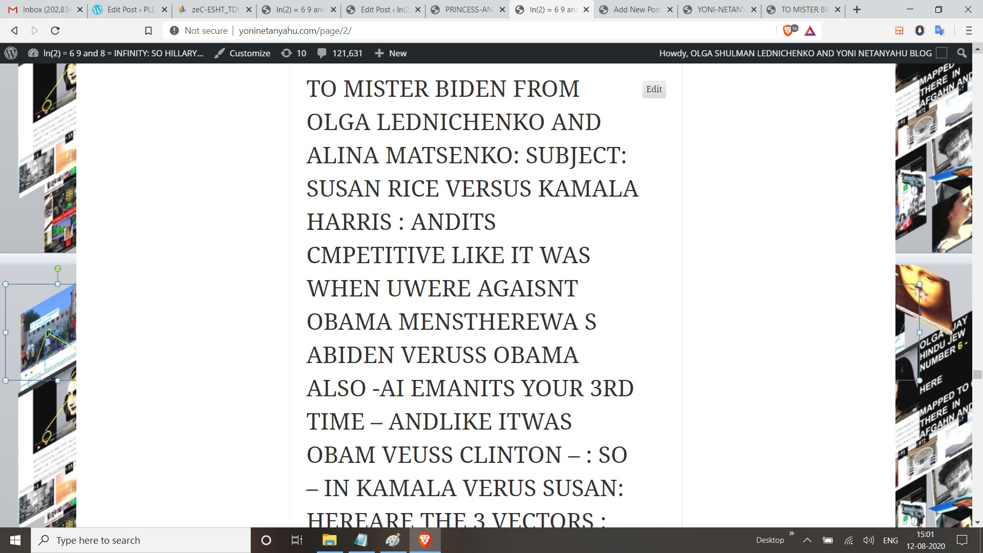 ABOUT KAMALA HARRIS FROM OLGA LEDNICHENKO AND ALINA MATSENKOO ADET AUSGUST 11, 2020 IN INDIAN TIME EMANS AUGSUT 10, 2020 R AUSGUT 11, 2020 IN USA TIME