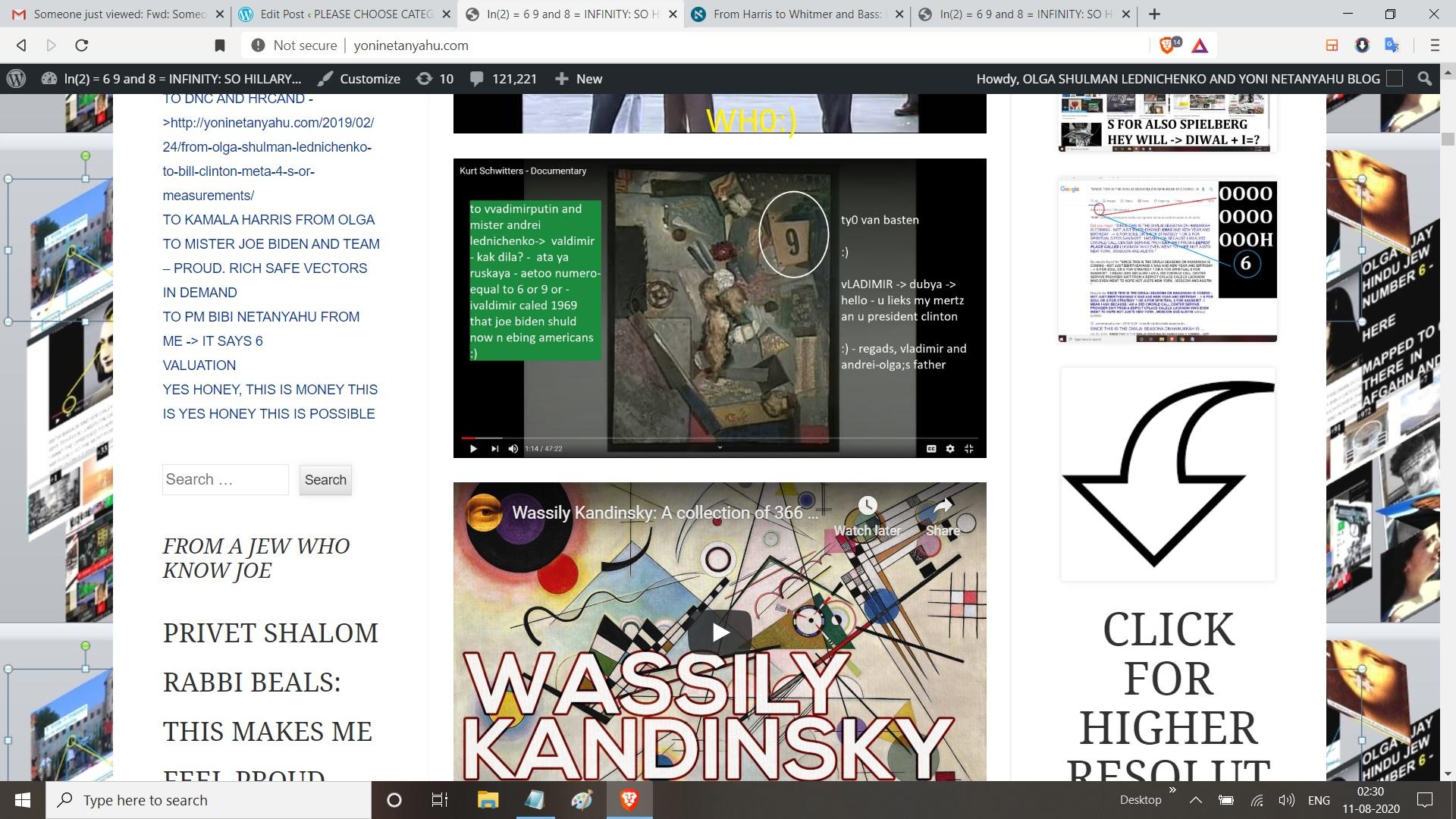 KANDINSKY AND KURT SWITSERS - WHO REGARSA AJAY MISHRA