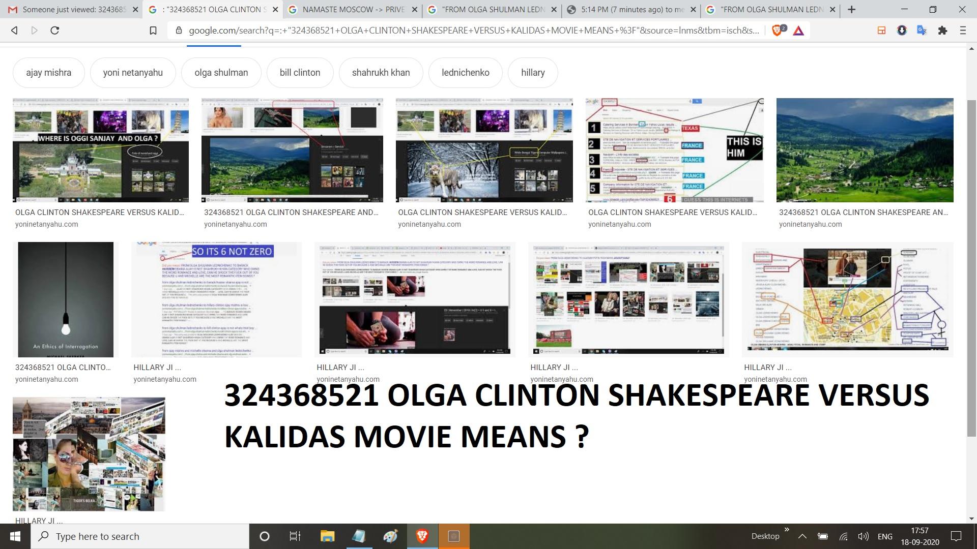 324368521 OLGA CLINTON SHAKESPEARE VERSUS KALIDAS MOVIE MEANS
