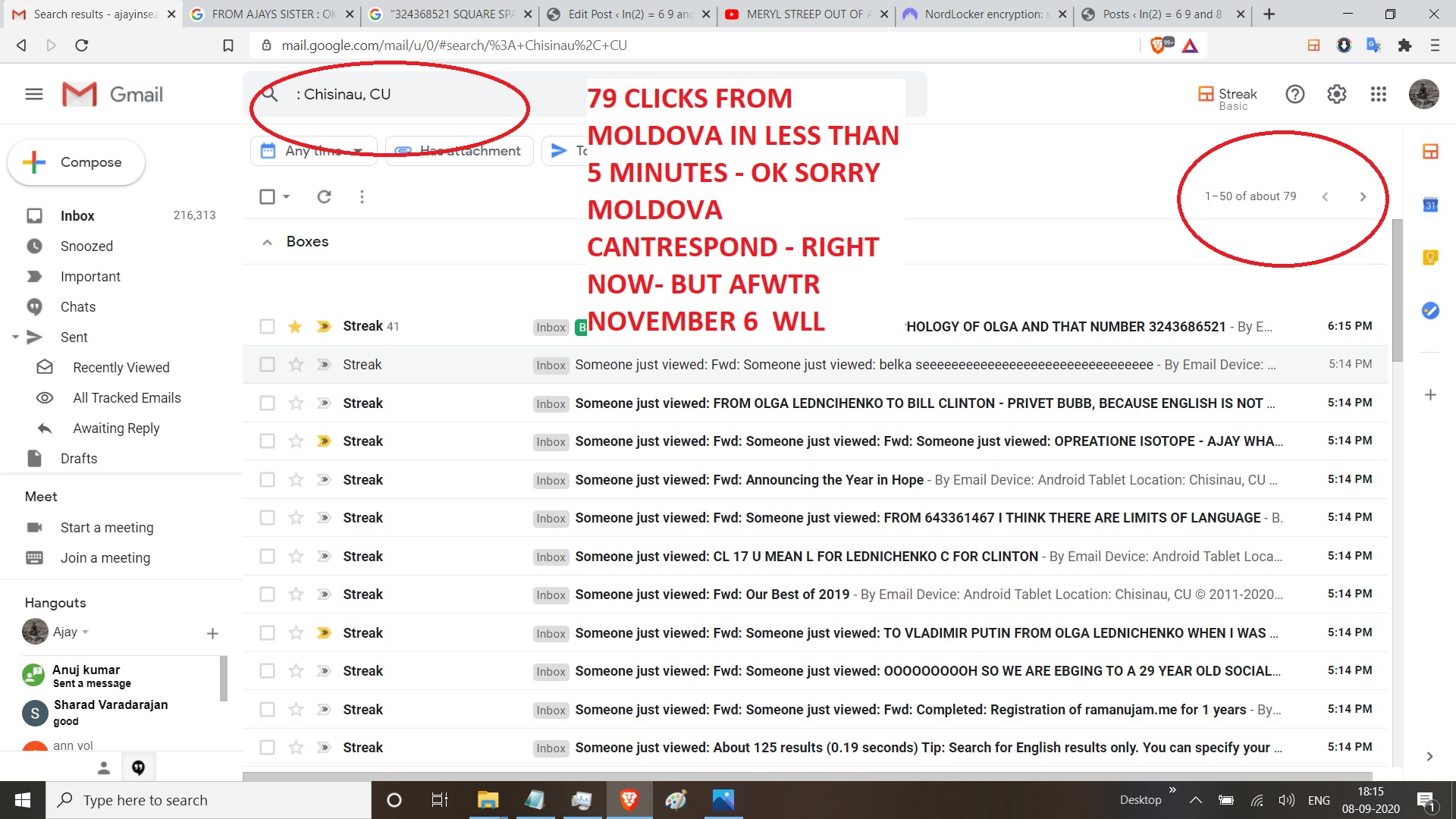 79 CLICKS FROM MOLDOVA IN LESS THAN 5 MINUTES - OK SORRY MOLDOVA CANTRESPOND - RIGHT NOW- BUT AFWTR NOVEMBER 6 WLL