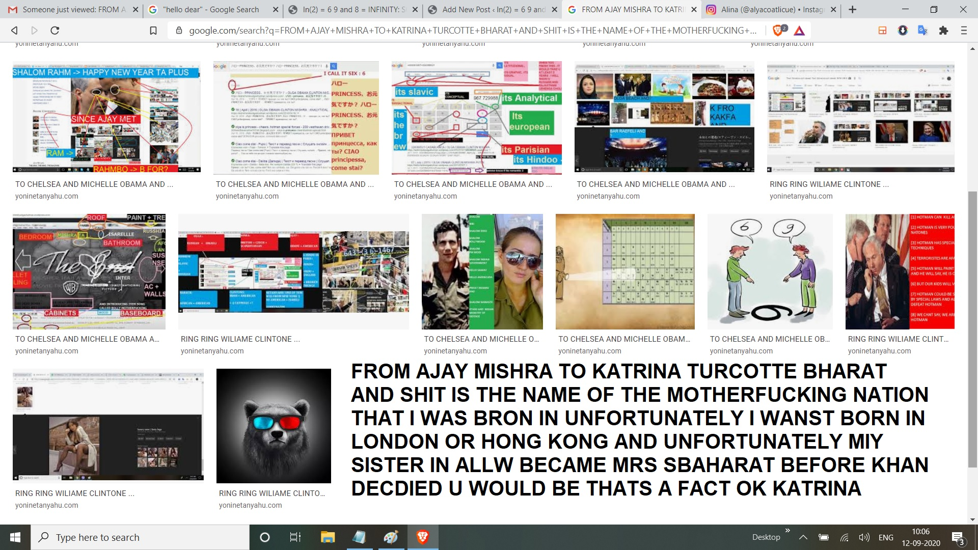 FROM AJAY MISHRA TO KATRINA TURCOTTE BHARAT AND SHIT IS THE NAME OF THE MOTHERFUCKING NATION THAT I WAS BRON IN UNFORTUNATELY I WANST BORN IN LONDON OR HONG KONG AND UNFORTUNATELY MIY SISTER IN ALLW BECAME MRS SBAHARAT BEFORE KHAN DECDIED U WOULD BE THATS A FACT OK KATRINA