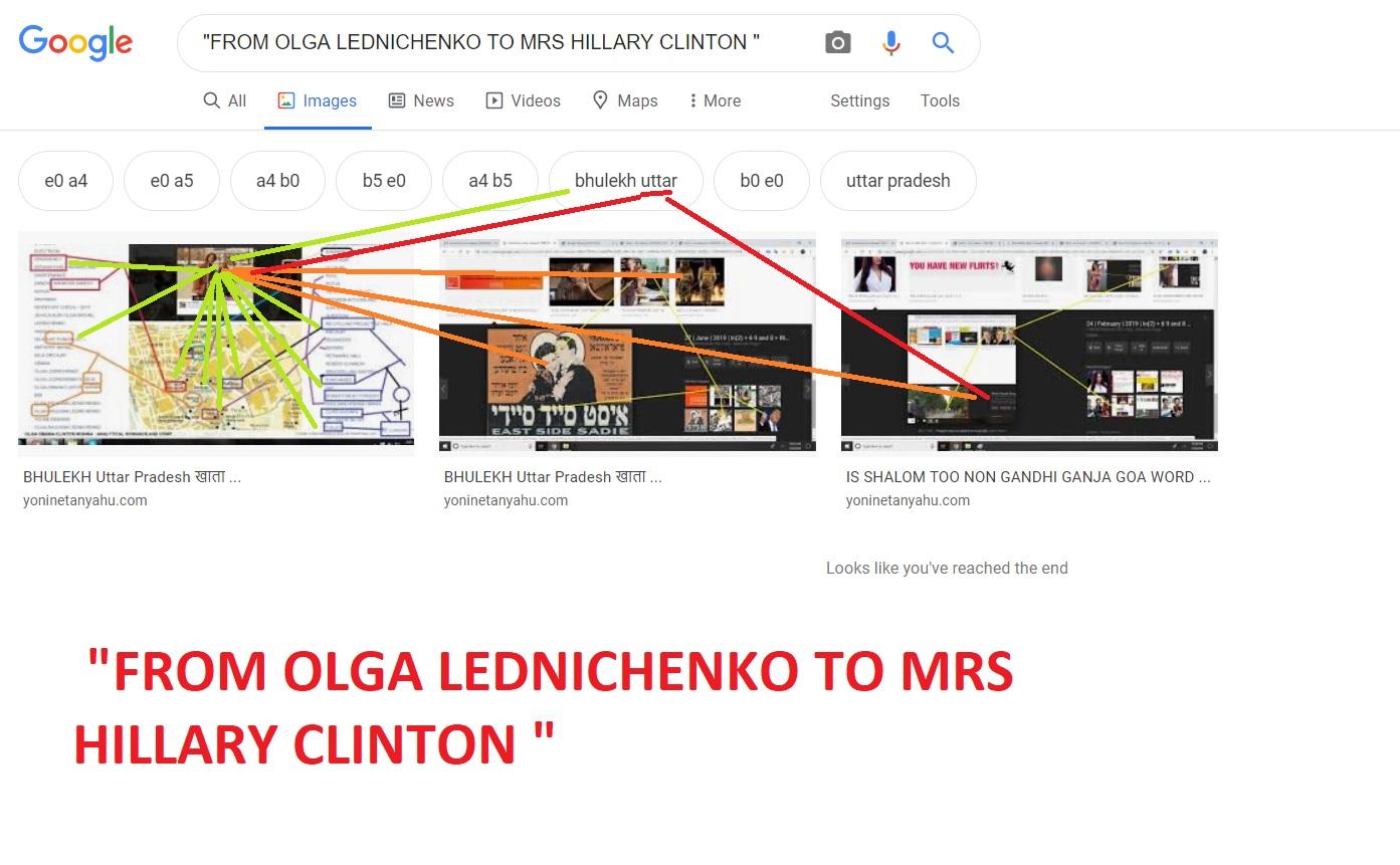 FROM OLGA LEDNICHENKO TO MRS HILLARY CLINTON