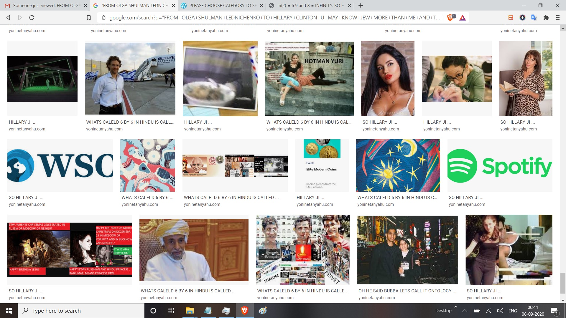 FROM OLGA SHULMAN LEDNICHENKO TO HILLARY CLINTON U MAY KNOW JEW MORE THAN ME AND THAT NO ONE CAN DOUBT BUT DOE OBAMA FAMILY AND MODI AND BOLLYWOOD KNOW INDIA AND ISAREL MORE THAN ME IF I OWN AJAY