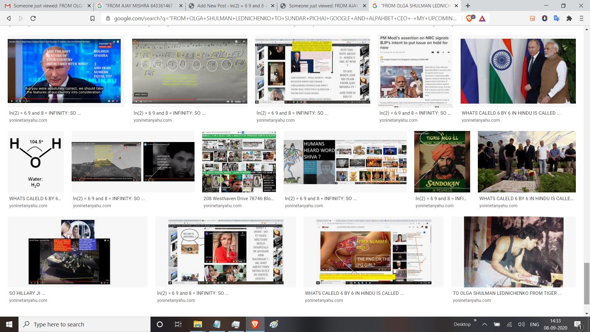 """""""FROM OLGA SHULMAN LEDNICHENKO TO SUNDAR PICHAI GOOGLE AND ALPAHBET CEO - MY UPCOMING HAPPY HANUKKAH NOT HAPPY HOLIDAYS, BU,T HAPPY HANUKKAH AND HAPPY NEW YEAR TO U AND ANJALI AND SURABHI KAUL AT GOOGLE AND VINEET BUCH AT GOOGLE AND VINOD KHOSLA AND BILL CLINTON AT NEW YORK - SO, HERE IS MY PREVIEW -: THE BRAHMIN AND THE BANOYA PARTS : FIRTSTHE BRAHMIN PART : -> SOULF OF GOOGLE -> EQUAL TO : DEPICTED IN AN EQUATION => HERE -> AS : GOOGLE EQUAL TO READ -> RANK -> RELAY/RENDER - THE HTML : HTML = SOME CALL IT DISCOVERY, SOME CALL IT KNOWLEDGE - BUT I CALL IT HTML EQUAL TO WORDS PLUS IMAGES PLUS MULTI MEDIA - MULTI MEDIA COULD BE GANIMATED GIFS, YU TUBE, VIDEOS, AND VIDEO VIEDOS ETC ETC ETC - NOW, FACEBOOK EQAUL TO - NOT DISCOVERY, ITS FILETRED, SHIT - ABOUT THE WHAT I CALL -"""" KNOWN TO MY FAMILY """" AND TWITETR = VANITY PROJECTS ABOUT SELECTED SHIT - FROM MY PEPER AND U KNOW MOTHERTRFUCKING EGOTTISTCIAL MOTHERUFCKERS WHO CALL THEMSELVES AS STARS, AND SHIT, AS OPPOSED TO HOW - OOEPLE FROM IT SAY WHEN THEY ARE CALELD GEUNIUS OR SMART - OK - U CAN SKIP MY ANGRY PARTS - AND SO IS INSTRGAM SHIT - NOW, BACK TO GOOGLE, WHICH I LIKE MORE THAN SOCIAL SHIT MEDIA - SO BRAHMIN PART OF GOOGLE = SOULD F SOGOOGLE = READ - RANK - RENDER OR RRELAY - RENDERING IS TEHCNCIAL TERM FOR HTL, HTML MENAS HYPER TEXT MARKUP LANGAUEG AND LATEST VESIJPON I THINK IS 5 POINT OOOOOOOH :) - THE BANIYA PART OF GOOGLE EAUL TO -> SEACH -> SCAN -> CCIK -> SEAHC IS THRU WHATS KNOWN IN YUR HEAD PLUS WHAT IU KTHINK U WANT TO KNOW - WHCICH IN THEORY OF CHOICE IS CALELD ITEM NUMEBR 1 - IE - WHAT IS DESIREABLE - SACN PART EQAL TO THE 2ND ITEM - IN THEORY OF CHOICE WHICH IS ACLELD - WHAT IS FEASIBLE - MENAING? MENAING U CAN ONLY READ OR RANK OR RENDER, WHAT IS PUBLSIHED, BY THERS - U DONT CREATE DATA - OR HTML U ONLY READ - RANK AND RENDER WHATS OTHERSS CREATED - OK : NOW : BRAHMINS ASK WHY - ALSO - AN WHY IS ABOVE - AND BANIYA MEANS MBA SHIT - LIKE INSEAD WHARTON - U FORM WHARTON YES ? OK AJAY TO FROM WHARTON ISN"""