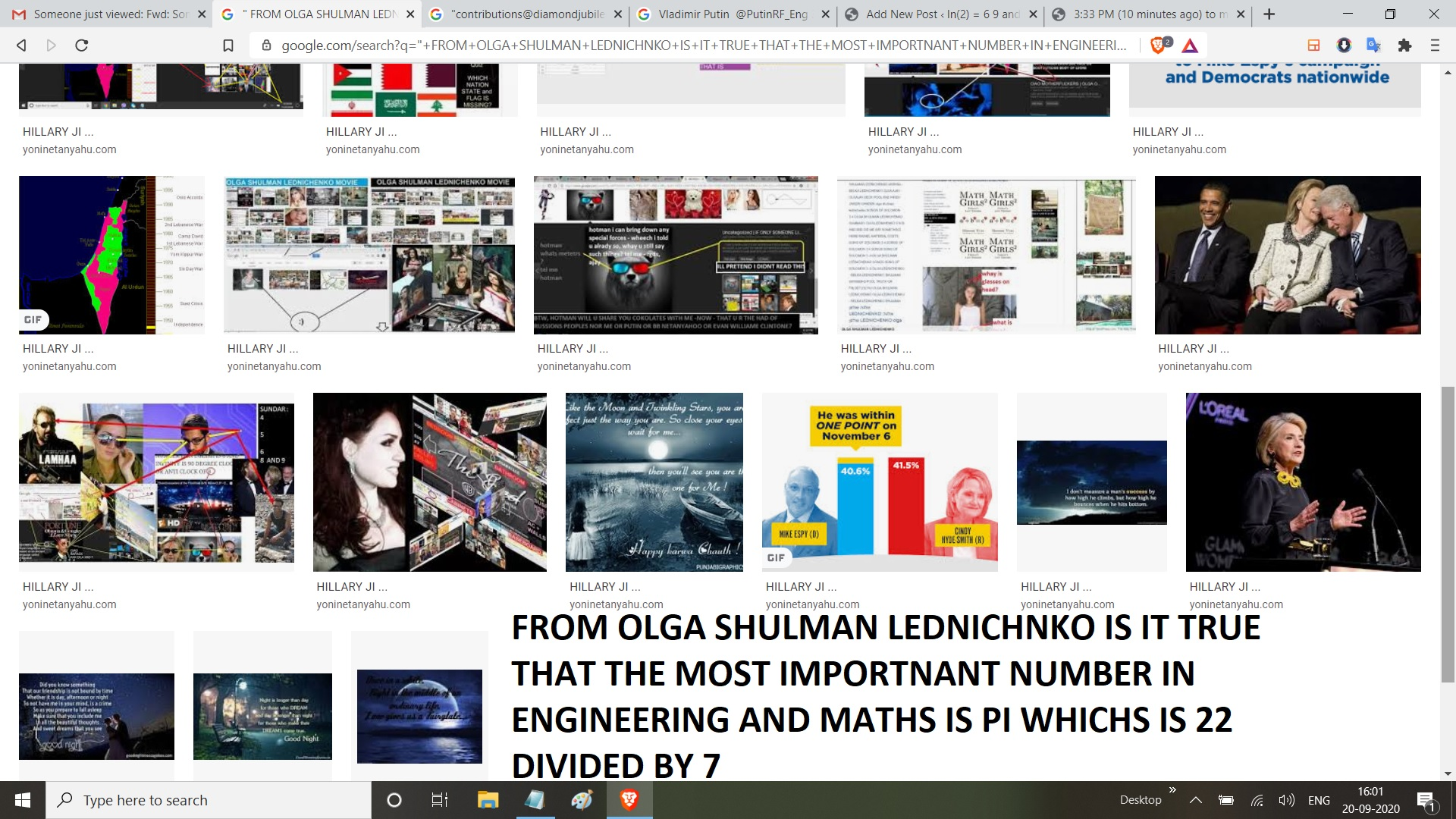 FROM OLGA SHULMAN LEDNICHNKO IS IT TRUE THAT THE MOST IMPORTNANT NUMBER IN ENGINEERING AND MATHS IS PI WHICHS IS 22 DIVIDED BY 7