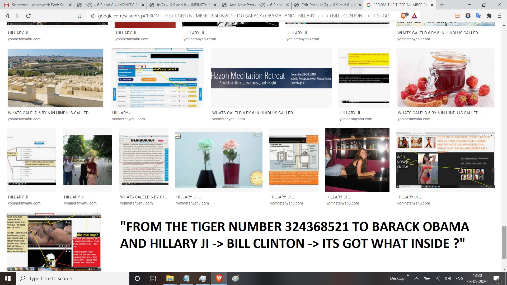 FROM THE TIGER NUMBER 324368521 TO BARACK OBAMA AND HILLARY JI BILL CLINTON ITS GOT WHAT INSIDE