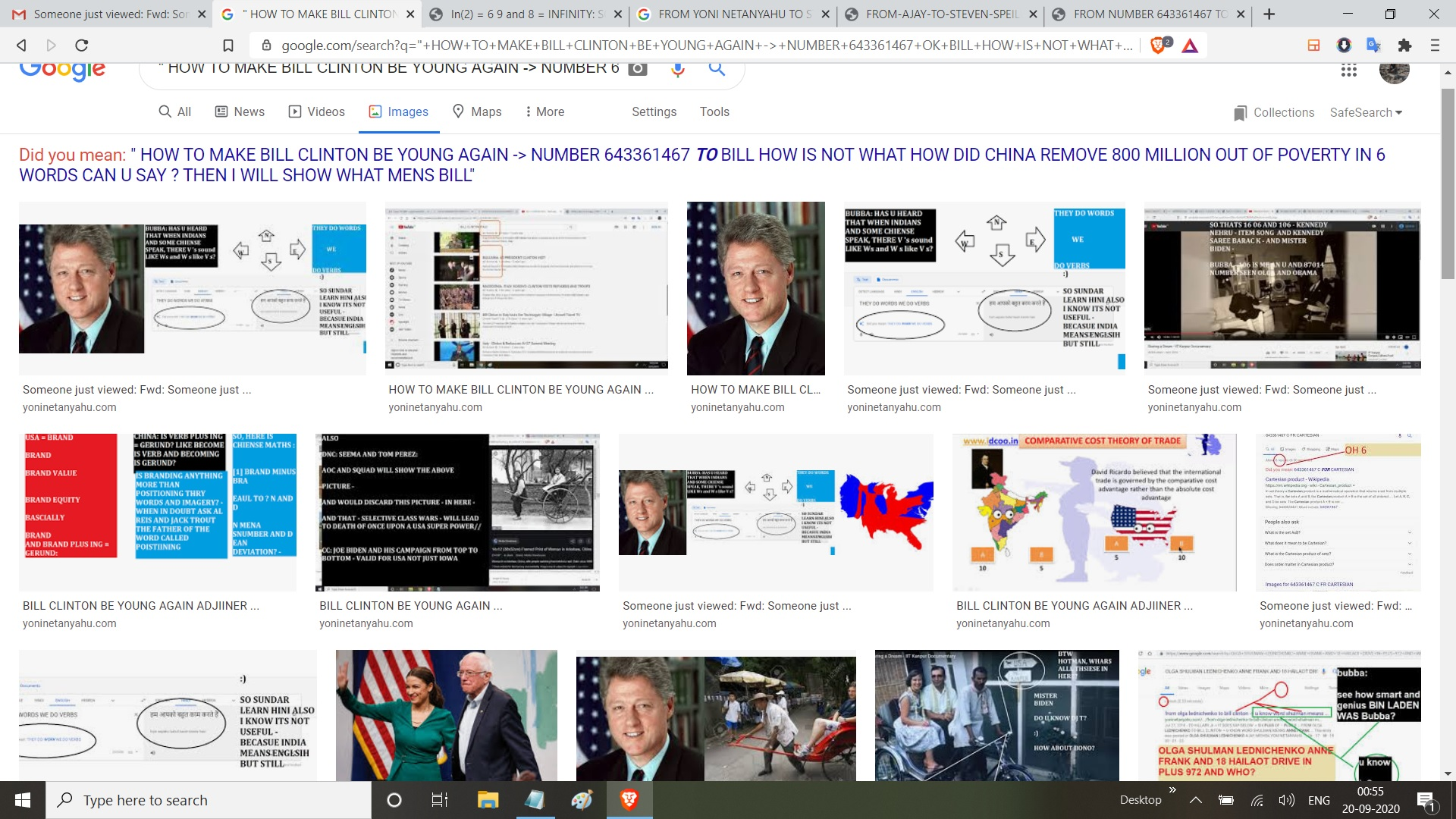 HOW TO MAKE BILL CLINTON BE YOUNG AGAIN NUMBER 643361467 OK BILL HOW IS NOT WHAT HOW DID CHINA REMOVE 800 MILLION OUT OF POVERTY IN 6 WORDS CAN U SAY THEN I WILL SHOW WHAT MENS BILL