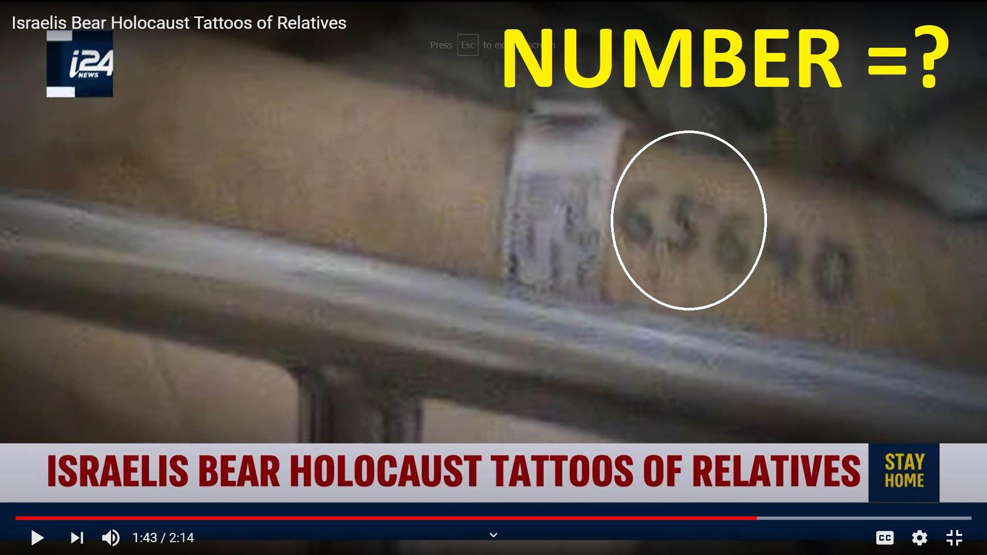 JEWISH HOLOCAUST NUMBERS