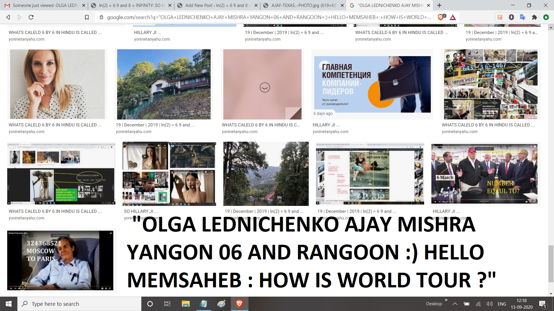 OLGA LEDNICHENKO AJAY MISHRA YANGON 06 AND RANGOON HELLO MEMSAHEB HOW IS WORLD TOUR