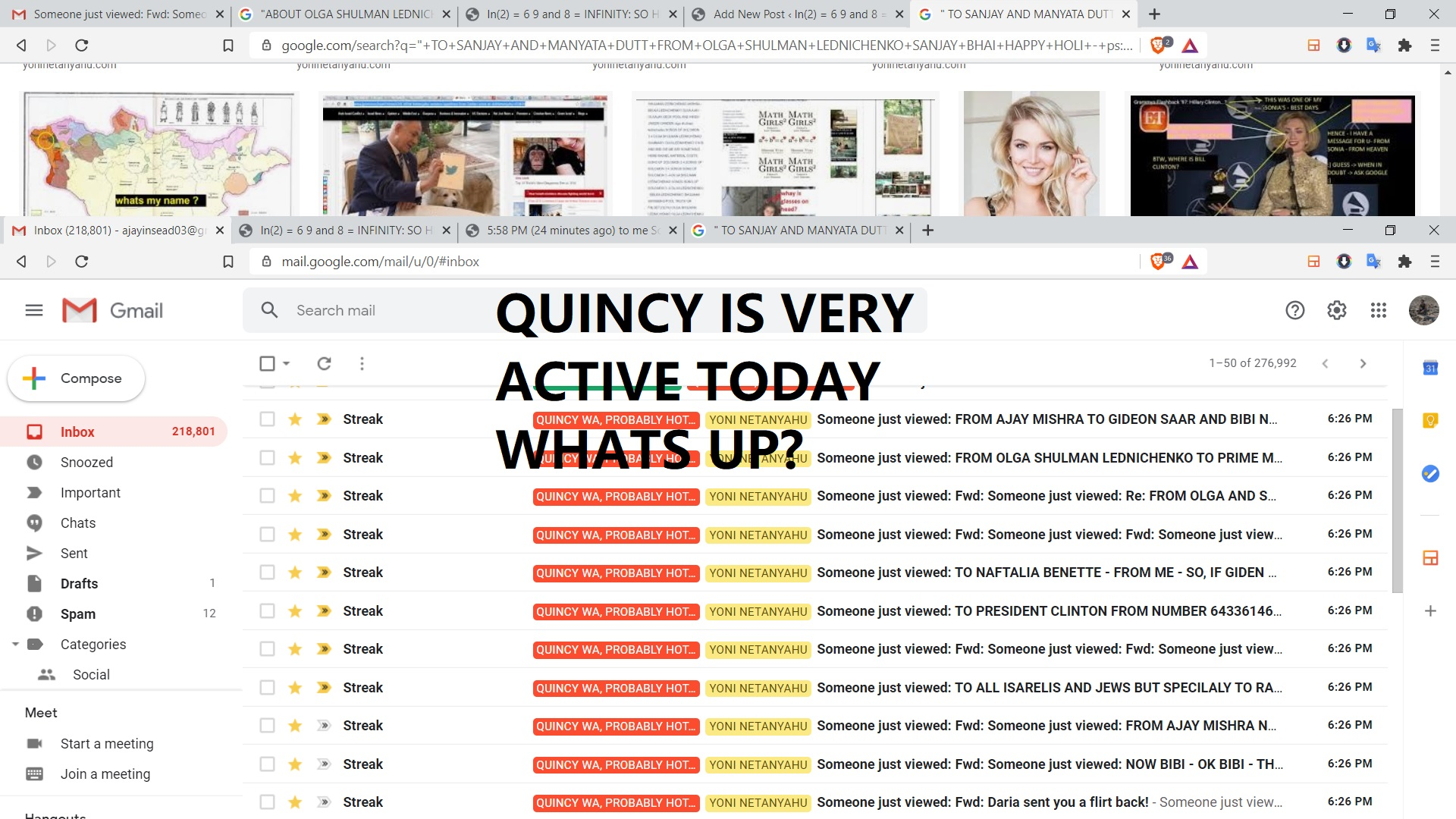 QUINCY IS VERY ACTIVE TODAY WHATS UP