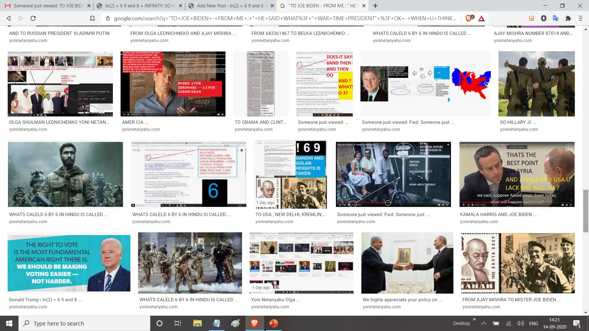 """""""TO JOE BIDEN - FROM ME : """" HE SAID WHAT? """" WAR TIME PRESIDENT"""" ? OK - WHEN U THINK WAR DO U THINK MILITARY? OK.. DO U SEE MILITARY NOW? I DONT DO U? DOES MILITARY BUILD HOSPITALS IN AFGHAN AND BAGHDAD ? - OK, WHY ARENT THEY BEING BUILT IN UNITED STATES : YEAH THEY DID BUILD ONE IN WUHAN - IT TOOK THE 2 WEEKS TO BUILD A HOSPITAL : ND RUSSHIA IS FOLLOWING SUIT TOO - WHY ARENT U - WHEN U ARE AT WAR ?"""""""