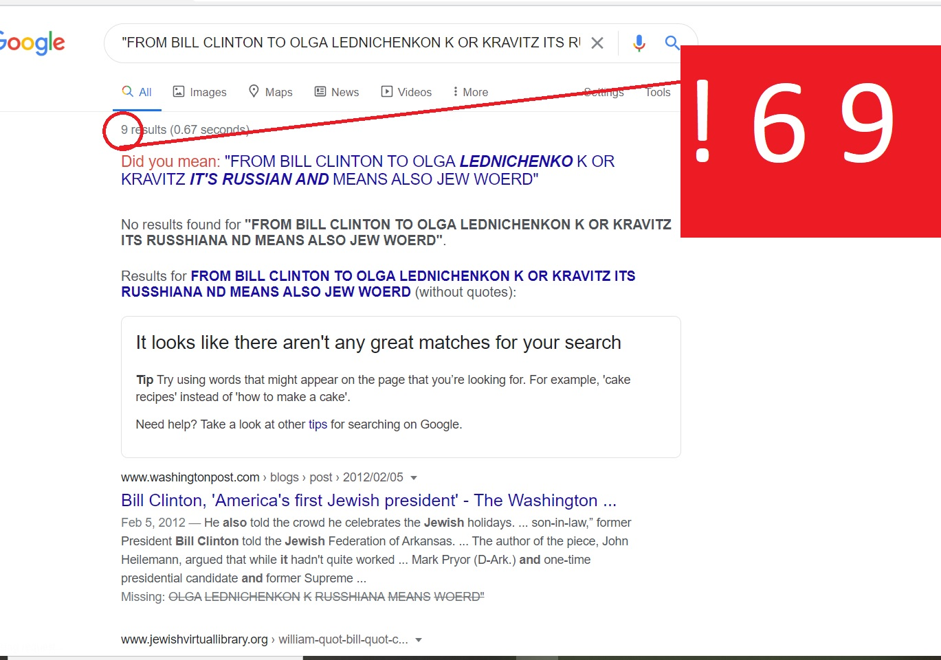FROM BILL CLINTON TO OLGA LEDNICHENKON K OR KRAVITZ ITS RUSSHIANA ND MEANS ALSO JEW WOERD