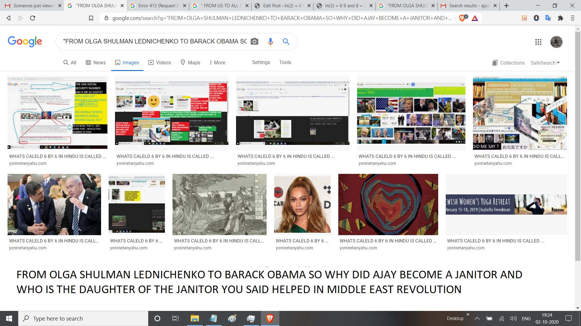 FROM OLGA SHULMAN LEDNICHENKO TO BARACK OBAMA SO WHY DID AJAY BECOME A JANITOR AND WHO IS THE DAUGHTER OF THE JANITOR YOU SAID HELPED IN MIDDLE EAST REVOLUTION