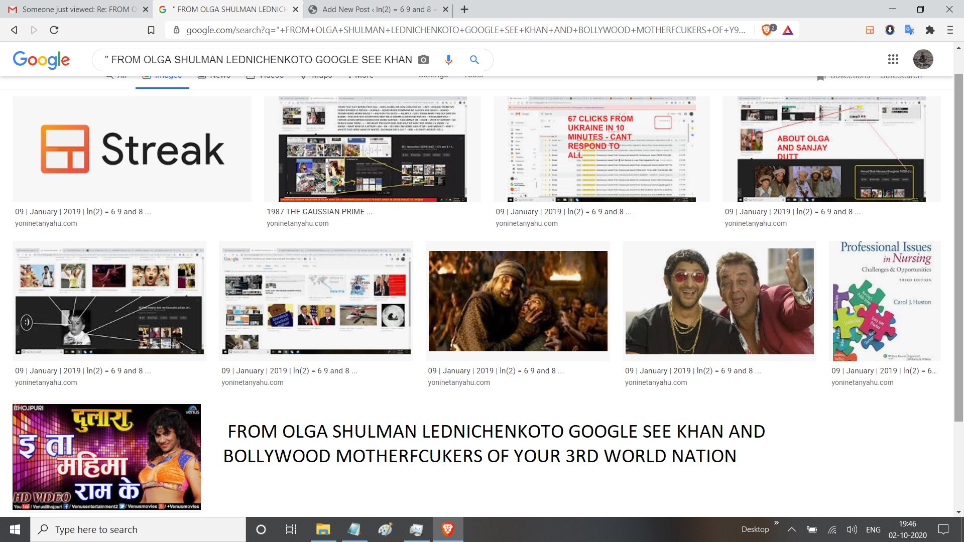 FROM OLGA SHULMAN LEDNICHENKOTO GOOGLE SEE KHAN AND BOLLYWOOD MOTHERFCUKERS OF YOUR 3RD WORLD NATION