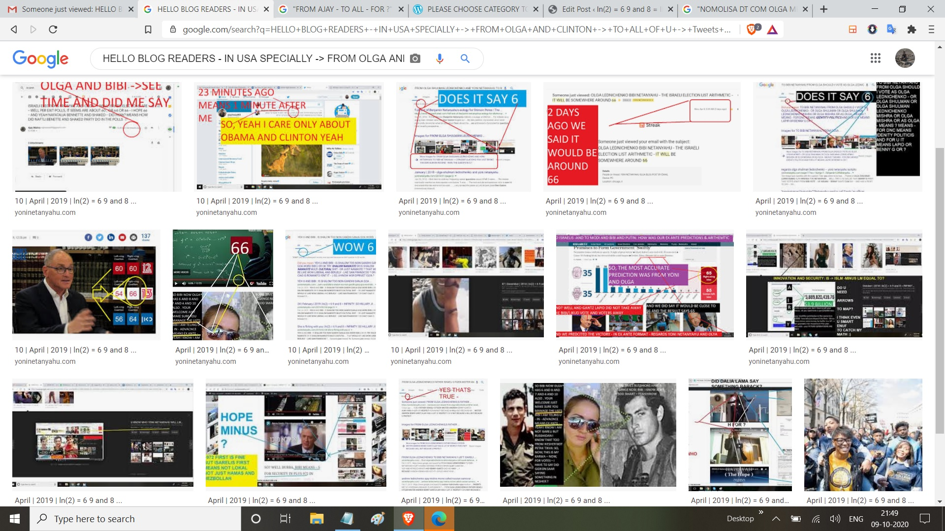 HELLO BLOG READERS - IN USA SPECIALLY -> FROM OLGA AND CLINTON -> TO ALL OF U -> Tweets New conversation ajayinsead03  @ajayinsead03 9m9 minutes ago More @BillClinton @BarackObama -> SEE -> SEE THIS IS - MULTI NOMIAL THEOREM ALMOST IMPOSSIBLE COALTIONS ->ITS IS @davidaxelrod => HENCE MEANS BECAUSE PLUS THEREFORE -> @RahmEmanuel -> NOW, PLEASE undetrstand this is PLUS 972 MATHS 1 reply 0 retweets 0 likes Reply 1 Retweet Like View Tweet activity Show this thread ajayinsead03  @ajayinsead03 3m3 minutes ago More @BarackObama @HillaryClinton @BillClinton SINCE IT TAKES A CLINTON TO EXPLAIN -> I ME MINE - PERCENATGES VOTED FOR THEIR PROXIES FOR THE I ME MINE TODAY IN THE MOST WEIRD, MOST DIFFUCLT ISARELI ELECTIONS - IN MODERN HISTORY.. AND HERE WE PREDICTED - IN ADAVNCE 1 reply 0 retweets 0 likes Reply 1 Retweet Like View Tweet activity ajayinsead03  @ajayinsead03 25s25 seconds ago More @BarackObama FYI, IT TOOK ME MORE THAN 4 DECADES TO LEARN JEW LANGUAGE AND JEW ARITHMETIC - AND NOW @HillaryClinton WELL, NOW, I AM GOING OFF OF TIWTTER - AND ? @davidaxelrod -> @BillClinton -> DNC DONT SCREW IT UP THIS TIME.. SERIOUSLY WARNING TRUMP MAY WIN AGAIN IN 2020 .