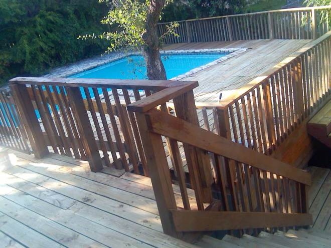 HUGE WRAP AROUND DECK AND POOL 208 WESTHAVEN DRIVE 78746 DECK REMODLELING JULY 2014