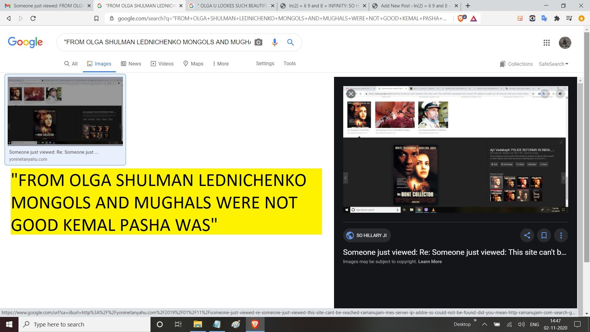 FROM OLGA SHULMAN LEDNICHENKO MONGOLS AND MUGHALS WERE NOT GOOD KEMAL PASHA WAS