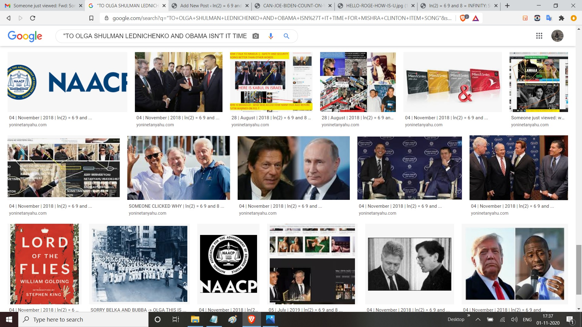 TO OLGA SHULMAN LEDNICHENKO AND OBAMA ISN'T IT TIME FOR MISHRA CLINTON ITEM SONG