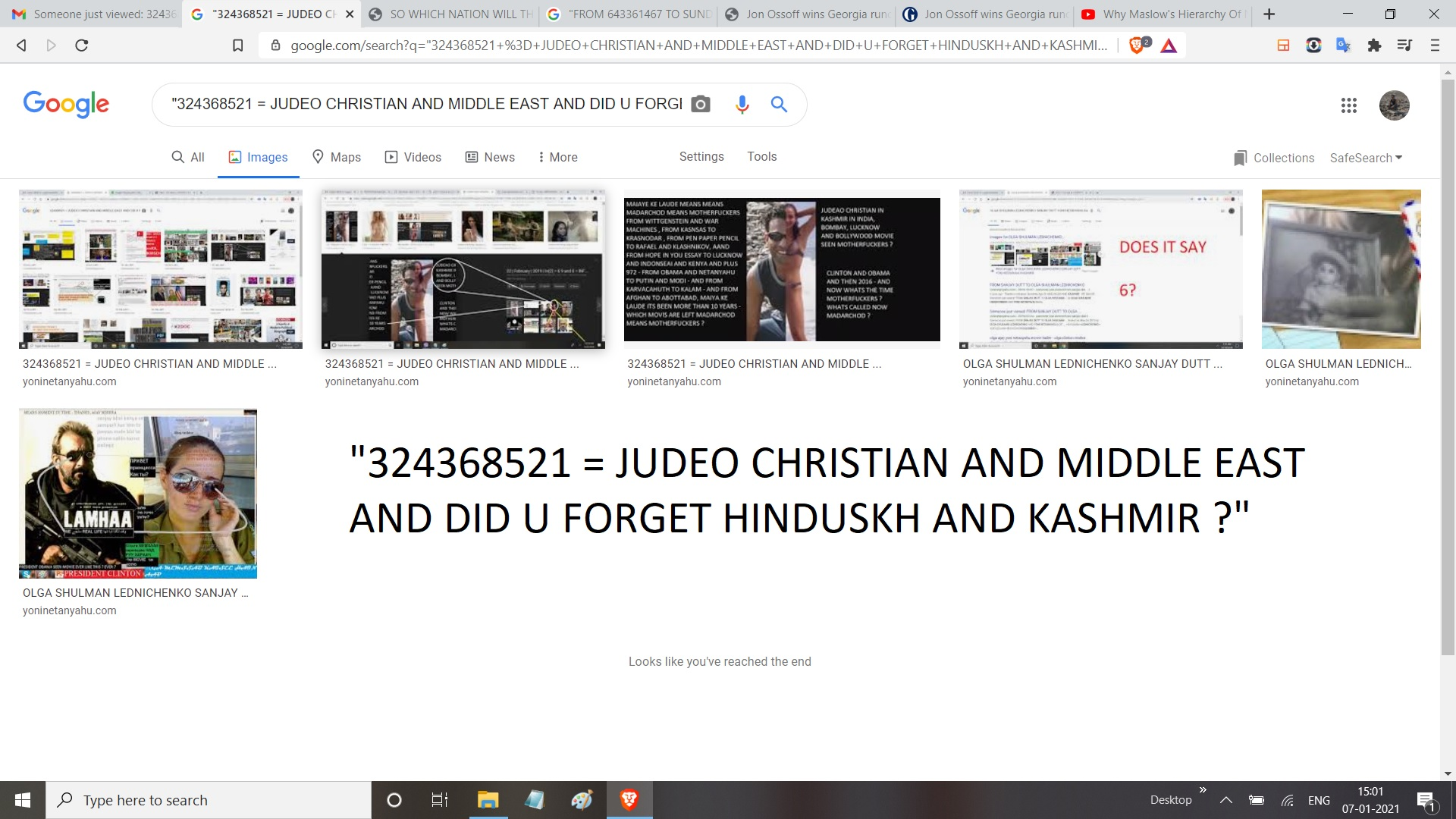 324368521 = JUDEO CHRISTIAN AND MIDDLE EAST AND DID U FORGET HINDUSKH AND KASHMIR
