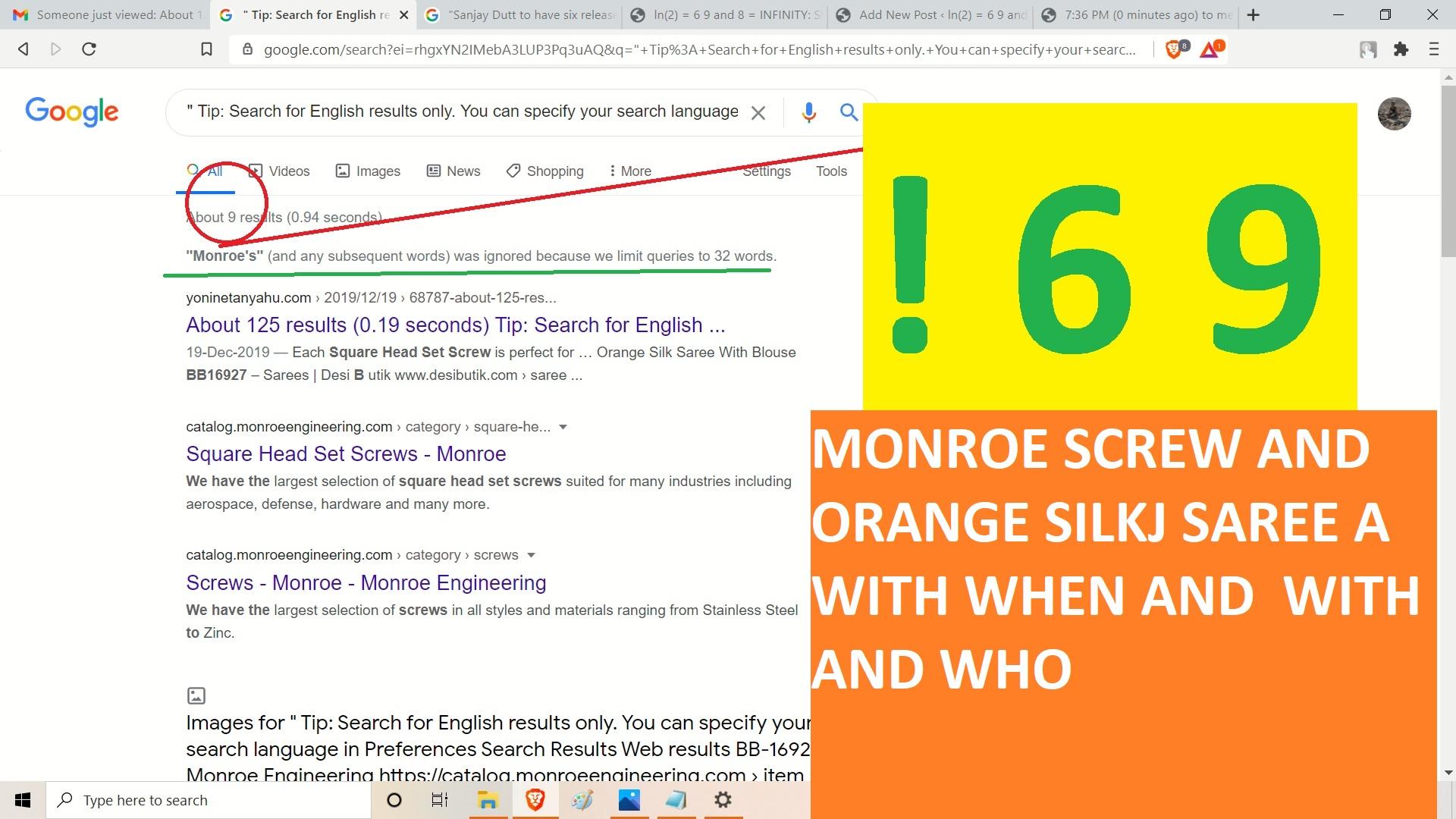 MONROE SCREW AND ORANGE SILJ SAREEA WITH AND WHO