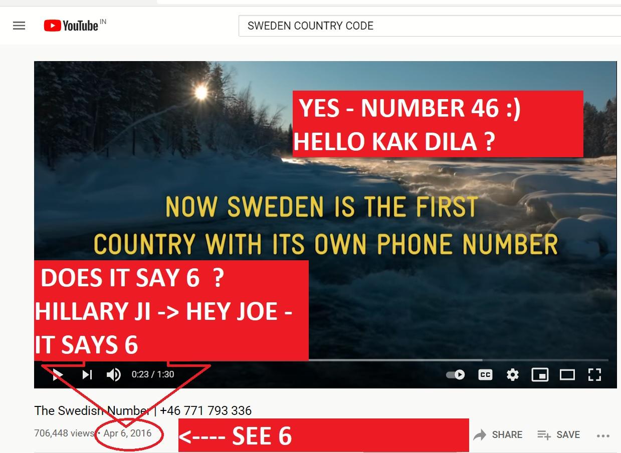 AJAY MISHRA ALINA MATSENKO JOE BIDEN - SWEDEN - NUMBER 46 - AND EYS - SHE - OK - I WIL TELL LATER THE SWEDISH CONNECTION