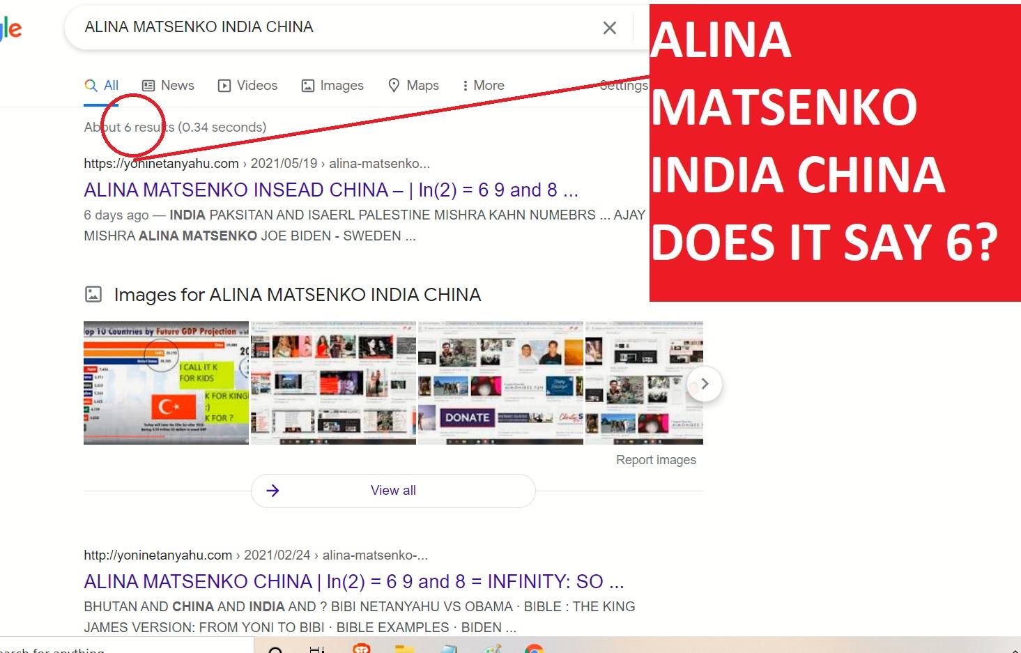 ALINA MATSENKO INDIA CHINA DOES IT SAY 6