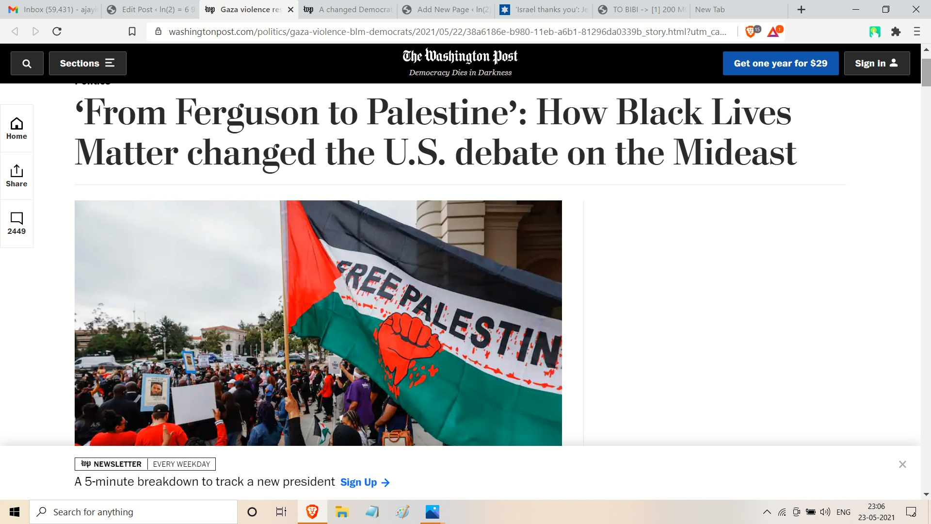 FROM AJAY MISHRA SO HERE IS BLACK LIVES MATETR AND 6 AND P FOR PALESTINE NOT ISRAEL ---