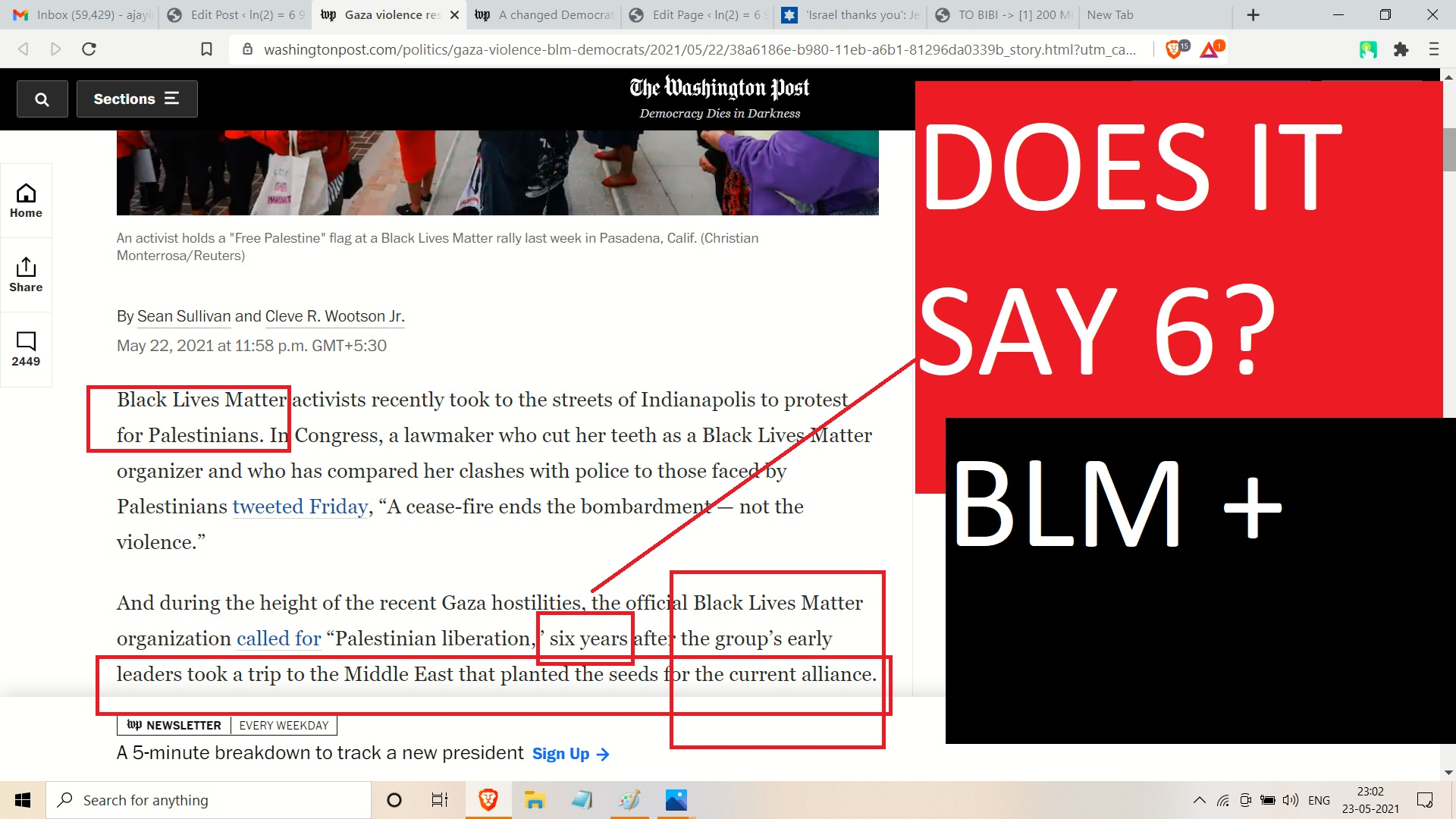 FROM AJAY MISHRA SO HERE IS BLACK LIVES MATETR AND 6 AND P FOR PALESTINE NOT ISRAEL