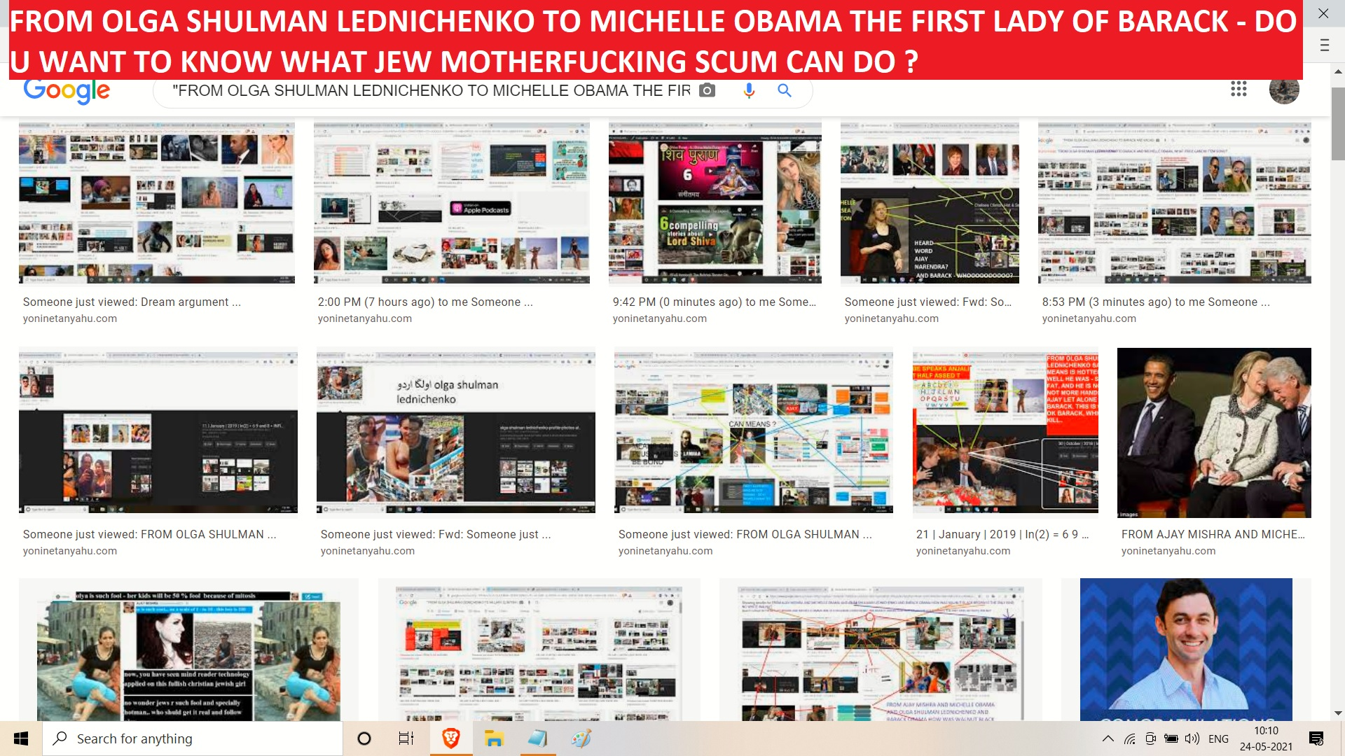 FROM OLGA SHULMAN LEDNICHENKO TO MICHELLE OBAMA THE FIRST LADY OF BARACK - DO U WANT TO KNOW WHAT JEW MOTHERFUCKING SCUM CAN DO