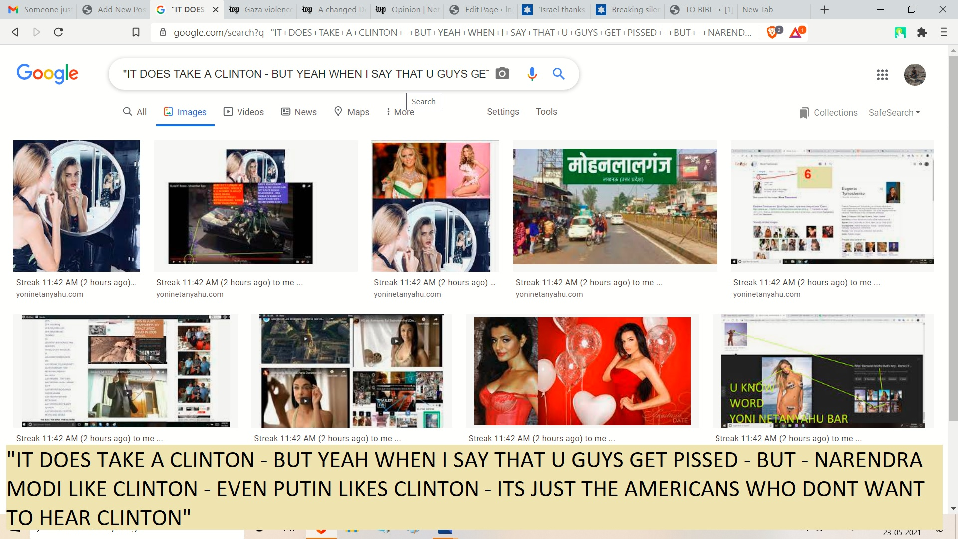 IT DOES TAKE A CLINTON - BUT YEAH WHEN I SAY THAT U GUYS GET PISSED - BUT - NARENDRA MODI LIKE CLINTON - EVEN PUTIN LIKES CLINTON - ITS JUST THE AMERICANS WHO DONT WANT TO HEAR CLINTON