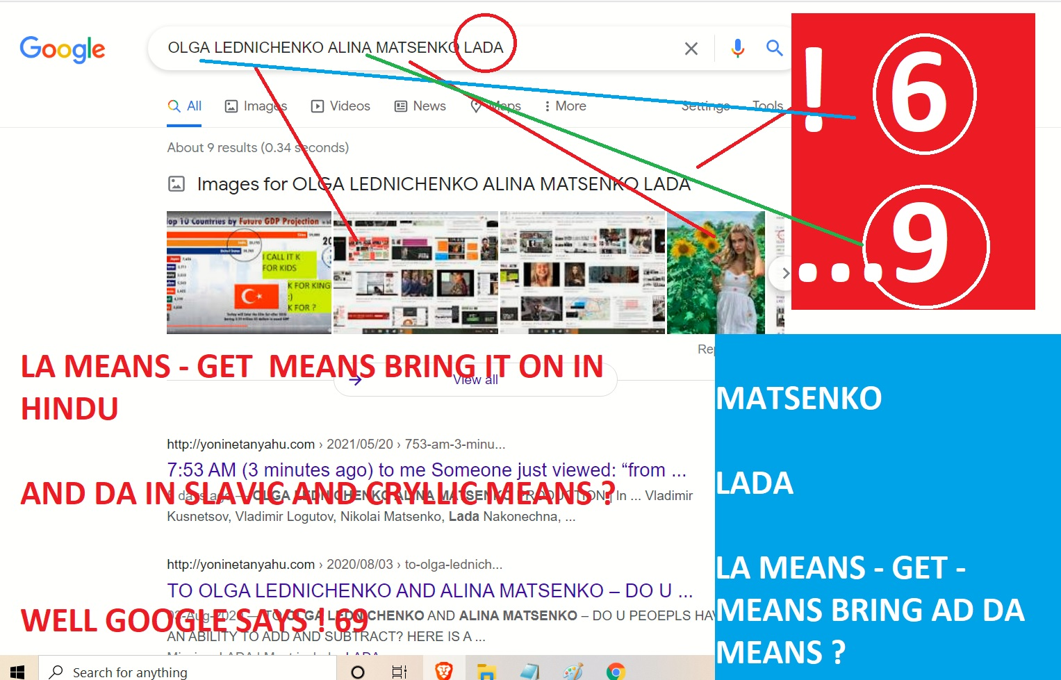 LEDNICHENKO MATSENKO LADA - LA IN HINDU MENAS BRING IN ON LIKE HET IT AND DA MENAS WHAT IN SKAVCI AND I CRYLLIC - GOOGLE SAYS FACT O RIAL 6 AND 9
