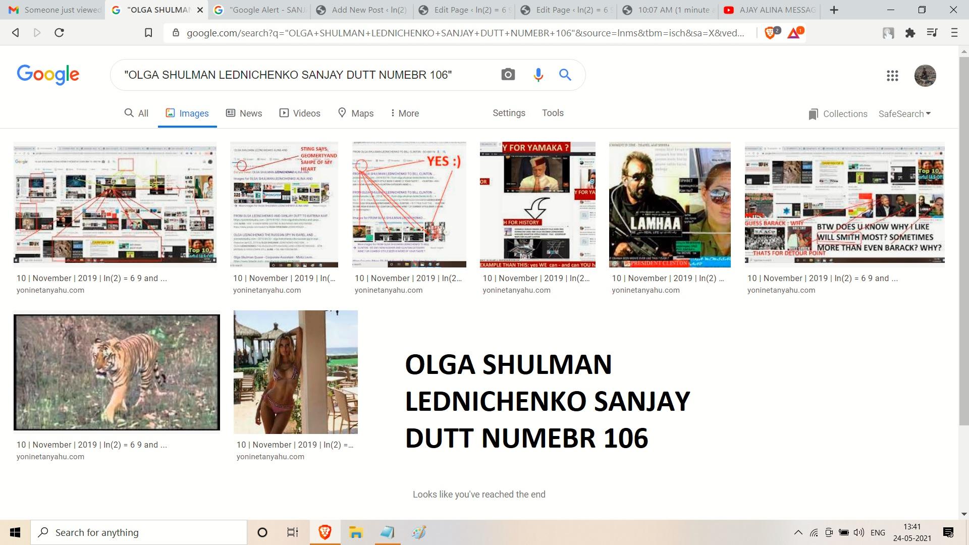 OLGA SHULMAN LEDNICHENKO SANJAY DUTT NUMEBR 106