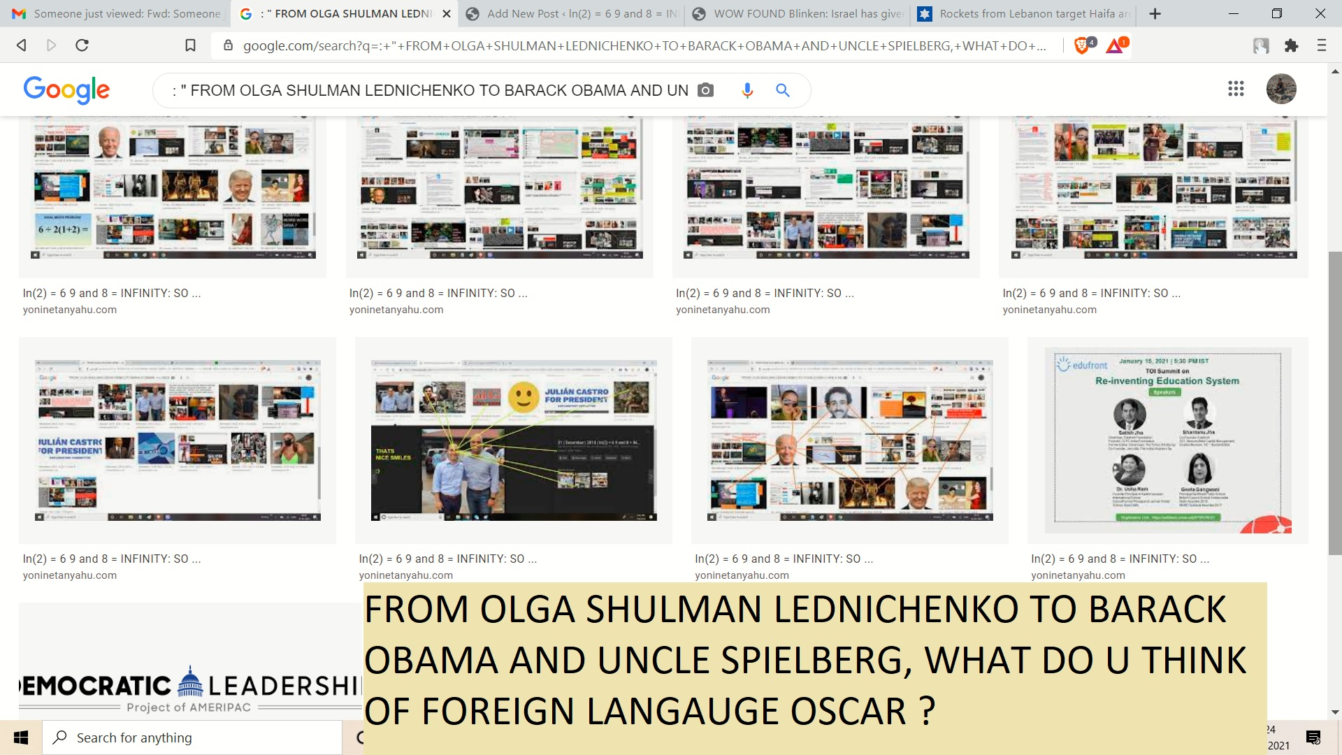 SO MRS SPEILEBRG AND OBAMA -WHAT OD U THINSK OF FOREIGN LANGUAGE OSCRA