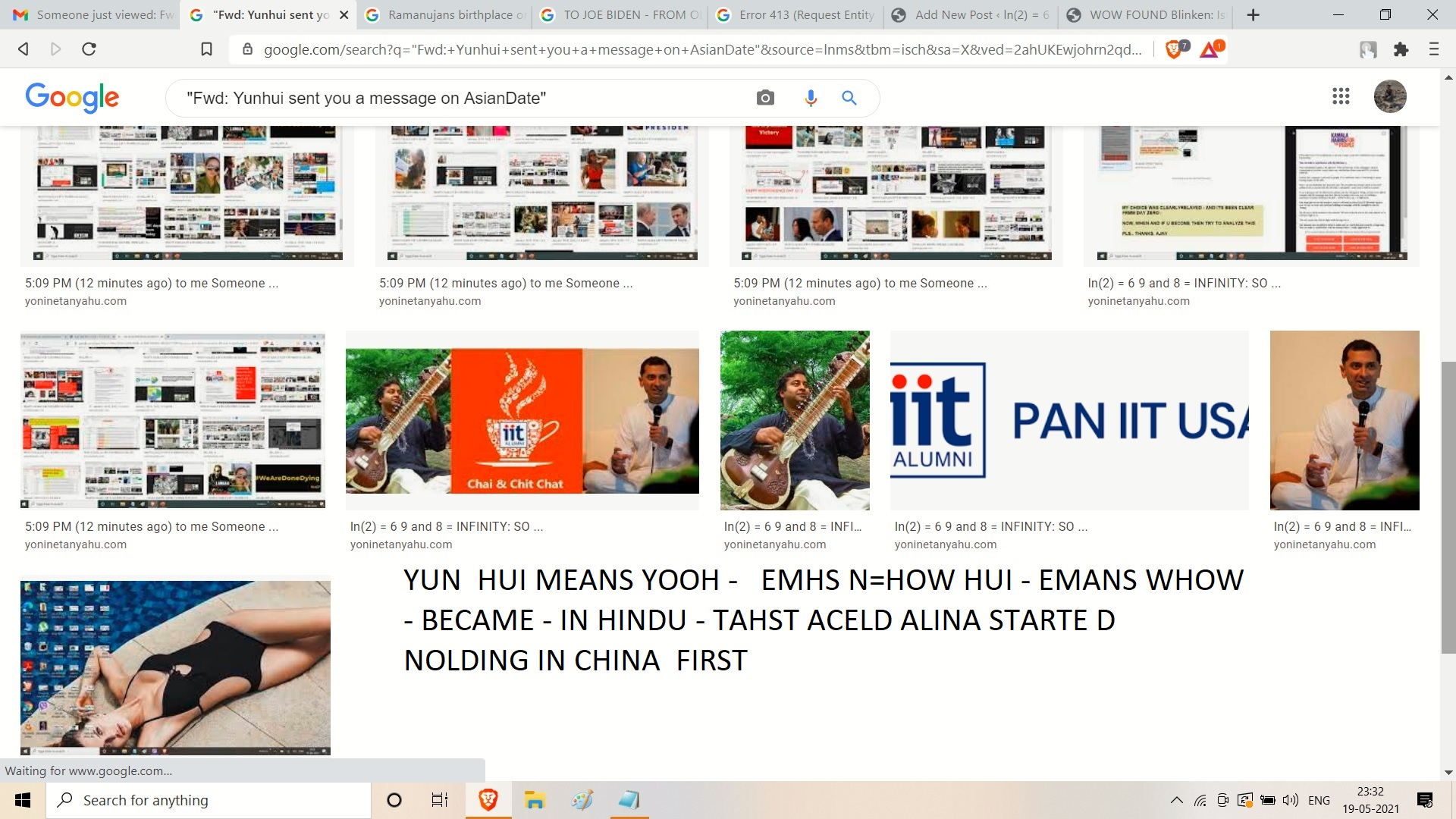 YUN HUI MEANS YOOH - EMHS N=HOW HUI - EMANS WHOW - BECAME - IN HINDU - TAHST ACELD ALINA STARTE D NOLDING INCHINA FIRST