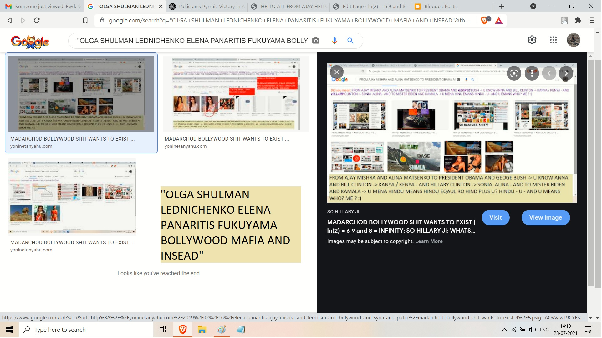 OLGA SHULMAN LEDNICHENKO ELENA PANARITIS FUKUYAMA BOLLYWOOD MAFIA AND INSEAD