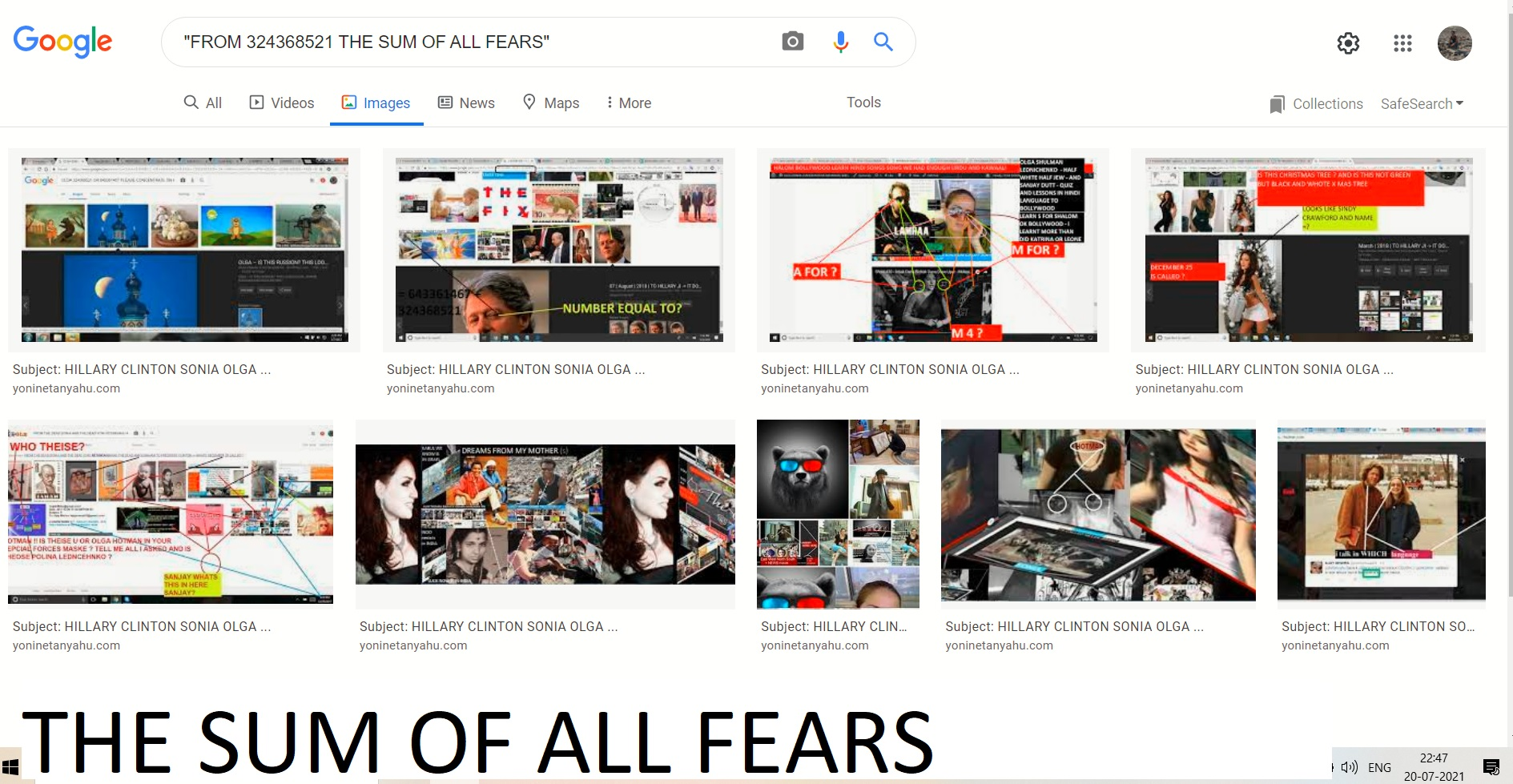 THE SUM OF ALL FEARS