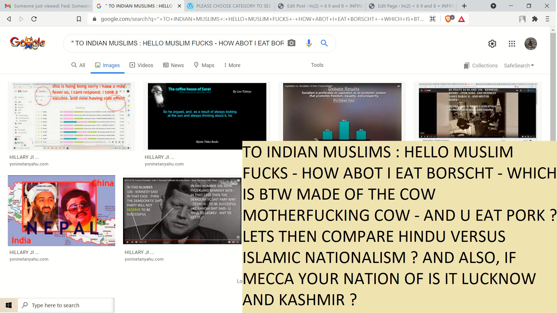 TO INDIAN MUSLIMS BORSCHT AND PORK HINDU AND MUSLIM NATIONALISM COMPARISION