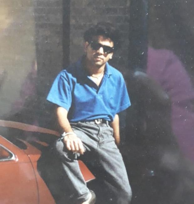 AJAY-TEXAS..-PHOTO AJAY AND CAR