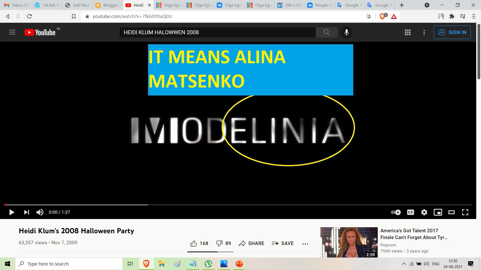 ALINA MASTENKO AND HEIDI KLUM - HALOWEEN 2008 --