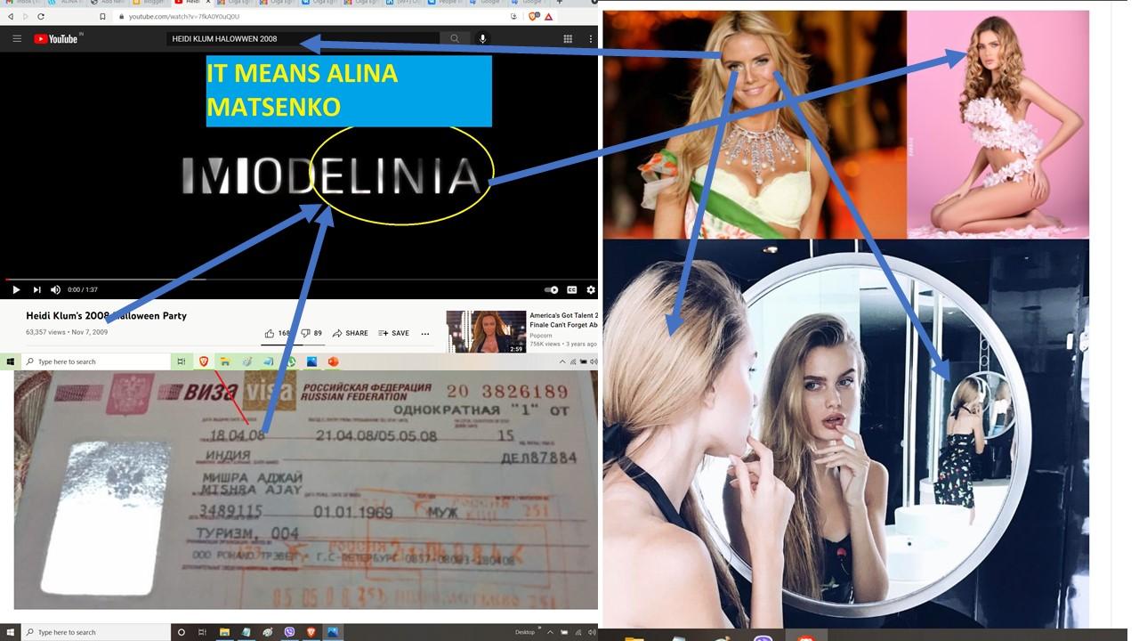 ALINA MASTENKO MODELINA - AND HEIDI KLUM + SONIA + ALINA LUCKNOW TO LENINGRAD TO KIEV KVIV UKRAINE= UK MEANS LONDON = UK + RAIN MEANS UKRAINE = ALINKA + JOHN YONI NETANAYHU MISHRA