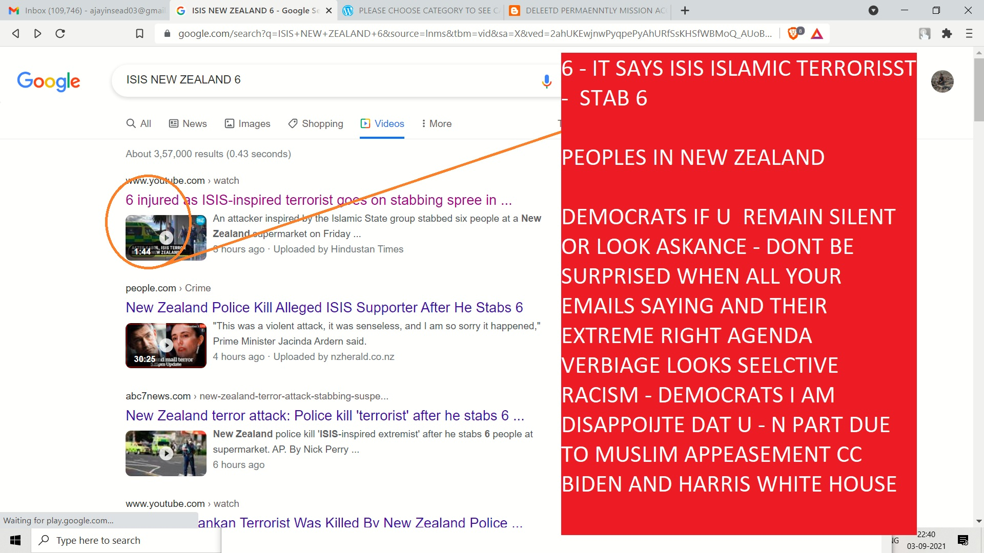 6 - IT SAYS ISIS ISLAMIC TERRORISST - STAB 6 IN AUCKLAND NEW ZEALAND