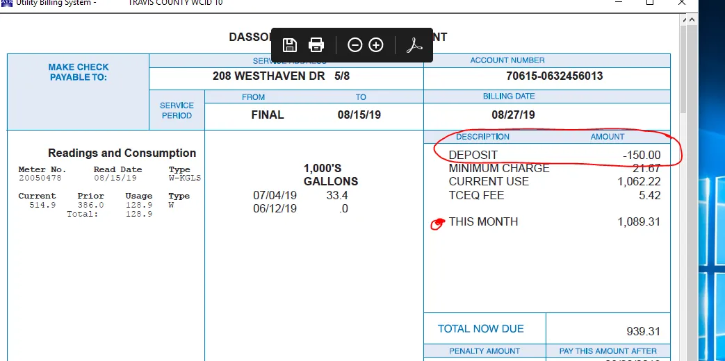 HIGH WATWER BIL AJAY MISHRA 206 WESTHAVEN DRIV E78746 ---