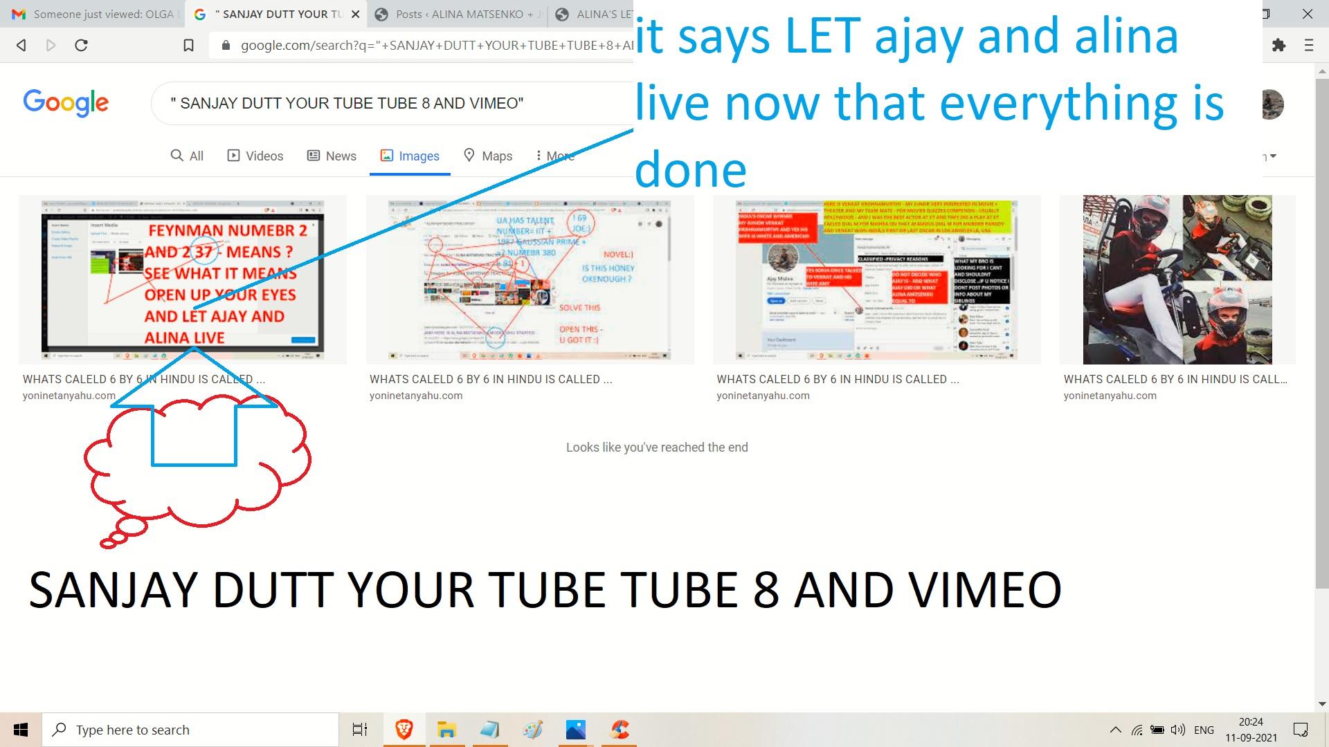 alina matsneko sanjay dut - video and you tube.. and 8