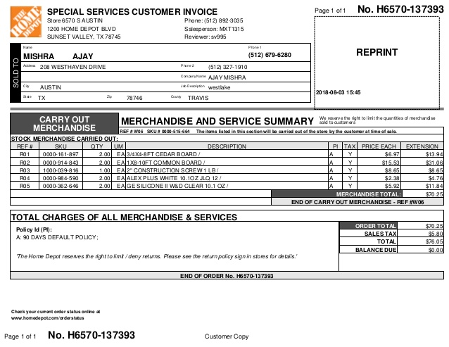 invoice-august-3-2018-material-stuff-bought-for-the-repairs-208-westhaven-drive-78746-1-638