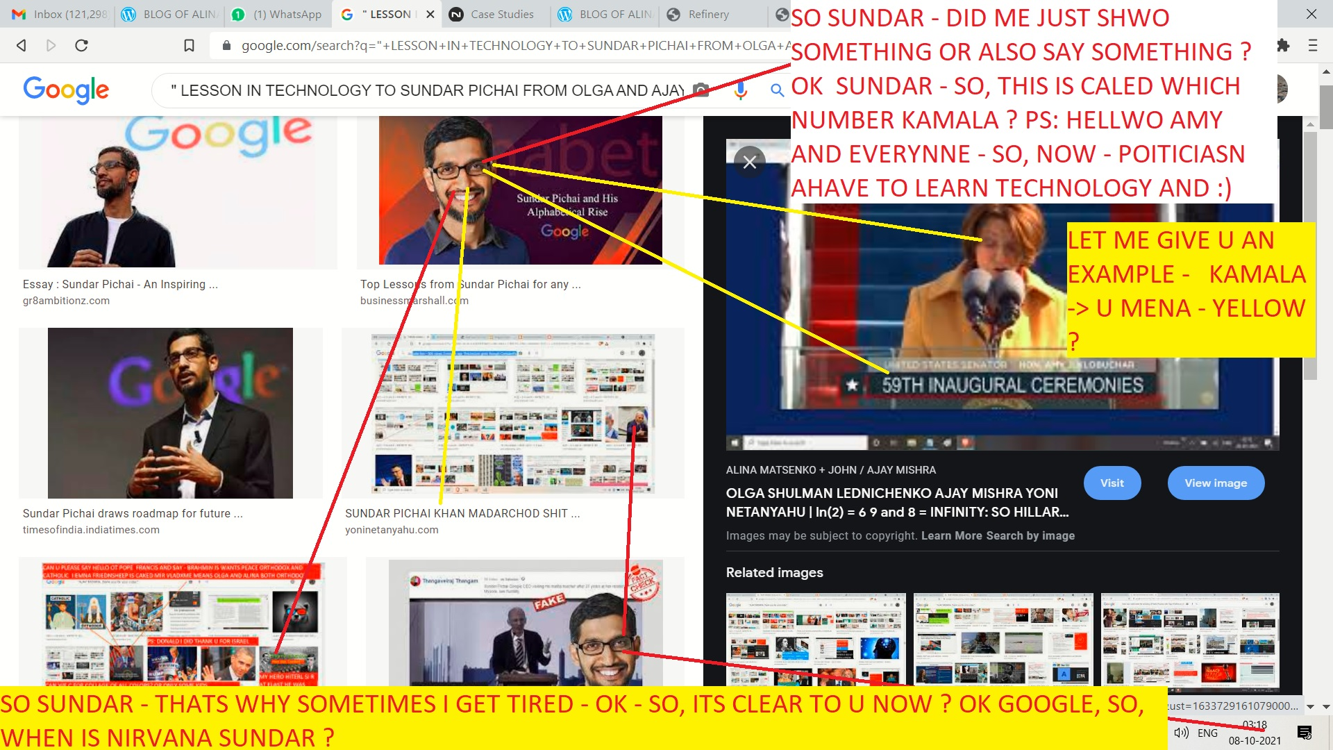 LESSONS IN ETCHNOLOGY TO SUNDAR PICHAI