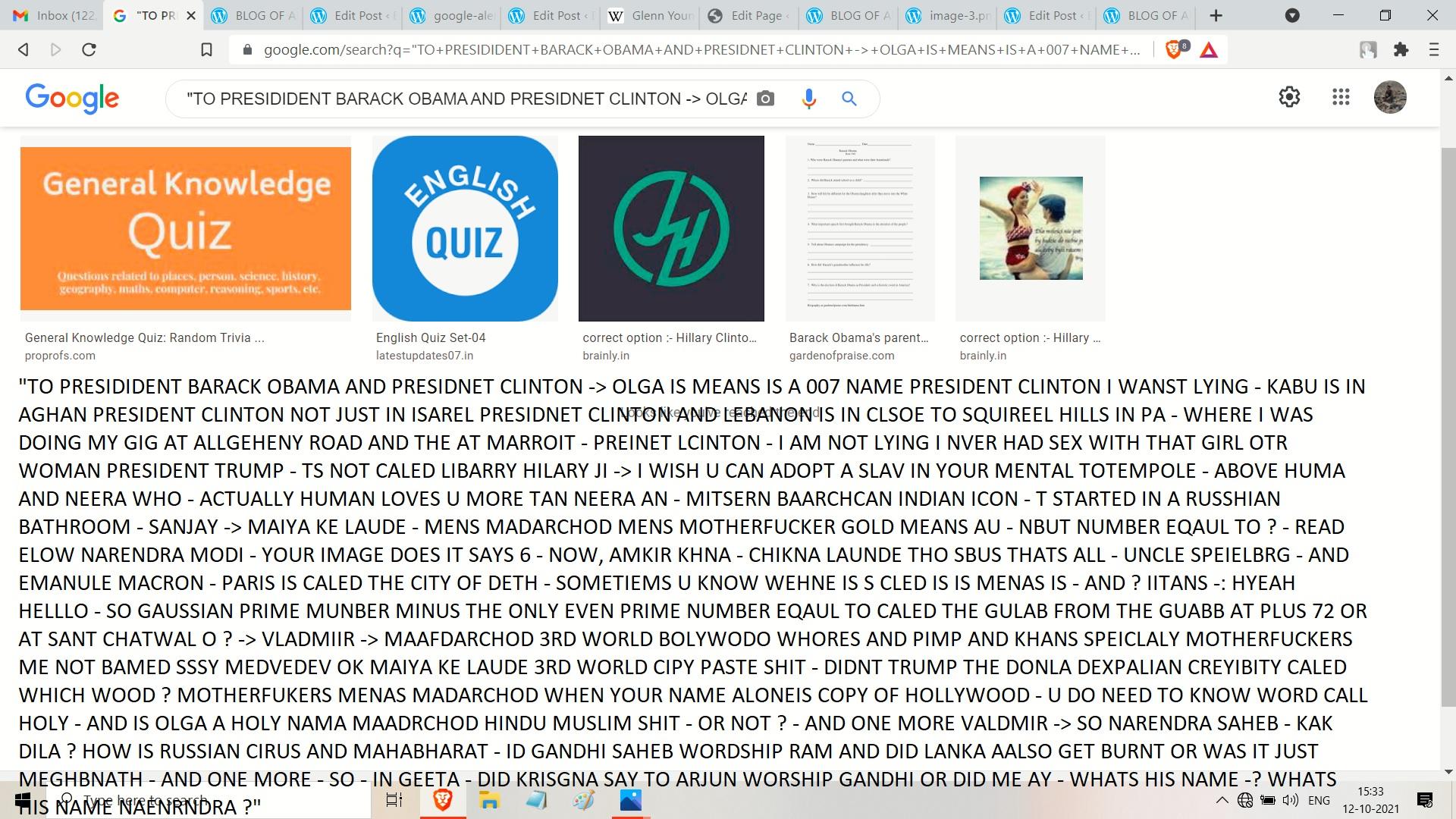TO PRESIDENT OABMA - FROM ME - AND OLGA LEDNICHENKO WORD HEARD BAARCK OR JUST FAMEKS SHIT BOND